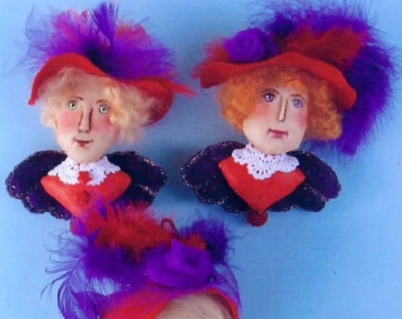 SE751 -Red Hat Angel Ornaments,  Holiday Sewing Fabric Pattern - PDF Download by Susan Barmore