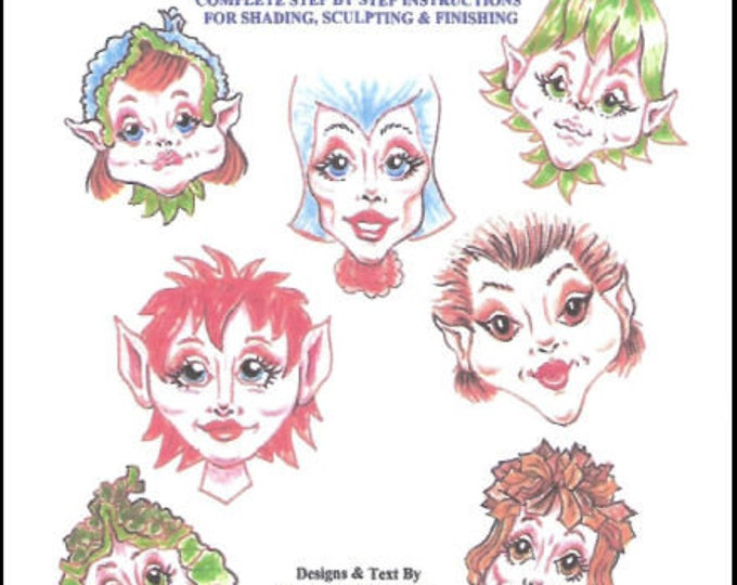 KK715E – Frequent Flyer Fairy, PDF Tutorial Download - Doll Face Making