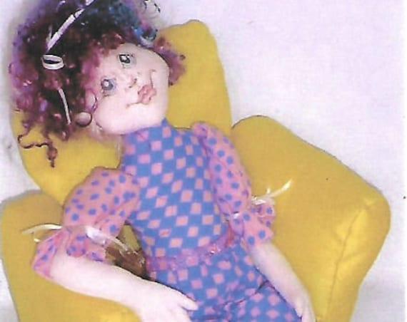 KK796E – Olivia Ann  - Cloth Doll Making Sewing Pattern, PDF Download