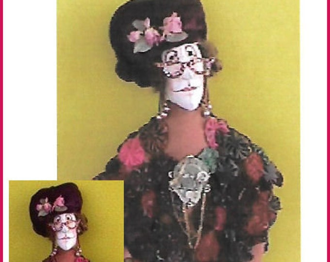 KK711EE – Mrs. Thompson  - Cloth Doll Making Sewing Pattern, PDF Download