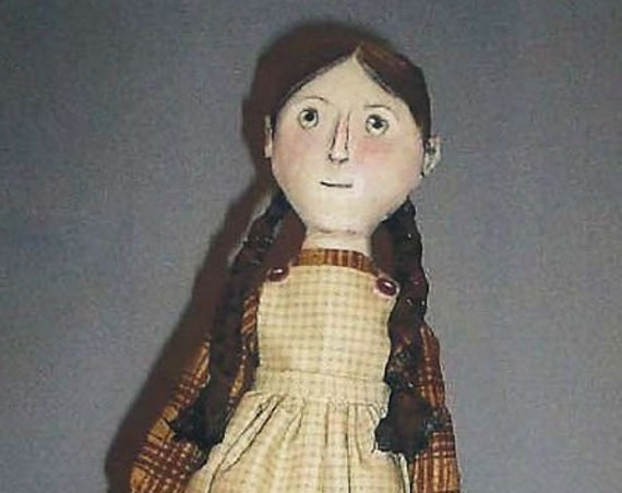 """SE827 -  Arleen,  17"""" Fabric Doll Pattern,  Sewing Cloth Doll Pattern - PDF Download by Susan Barmore"""