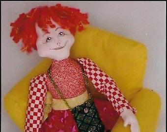 KK791E – Miss Pittipat - Cloth Doll Making Sewing Pattern, PDF Download