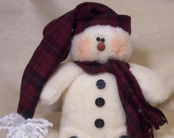 RP206 - Skootles,  Plush Felt Snowman Doll Pattern by Michelle Allen of Raggedy Pants Designs - PDF Download