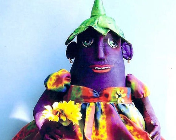 SE819 - Eggplant, Fabric Art Doll Pattern,  Sewing Cloth Doll Pattern - PDF Download by Susan Barmore