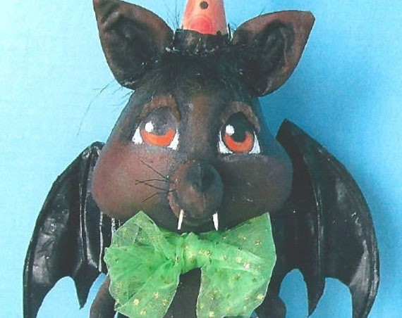 SE759 - Party Bat,  Fabric Art Doll Pattern,  Sewing Cloth Doll Pattern - PDF Download by Susan Barmore