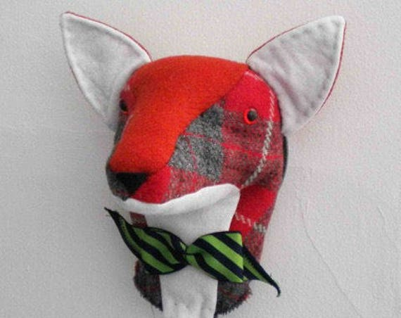 JX910E – Mr. Fox - Trophy Head - PDF Cloth Animal Doll Sewing Pattern