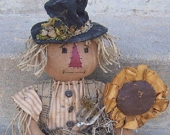 RP337E - HoBo Scarecrow, PDF Download Cloth Doll Pattern by Michelle Allen of Raggedy Pants Designs