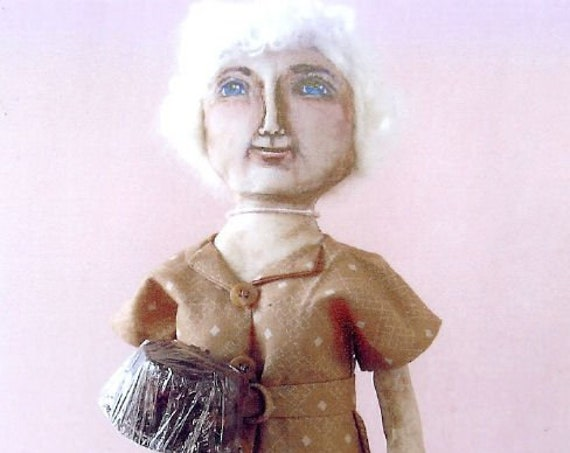 """SE829 -  Favorite Cake Lady,  15"""" Fabric Doll Pattern,  Sewing Cloth Doll Pattern - PDF Download by Susan Barmore"""
