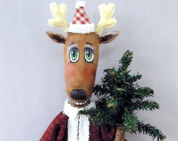 "SE818 - Reindeer Ed ,  16"" Christmas Sewing Fabric Pattern - PDF Download by Susan Barmore"