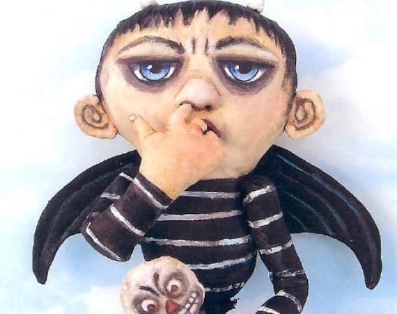 SE768 - Devil Boy,  Fabric Art Doll Pattern,  Sewing Cloth Doll Pattern - PDF Download by Susan Barmore