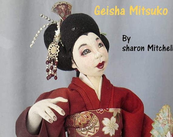 SM925 - Geisha Mitsuko Cloth Doll Making Sewing Pattern,  Download Class PDF Download