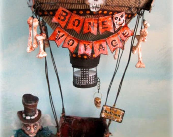 Doll Making Class, Bone Voyage Balloon Ride, Art Doll Project by Susan Barmore (PDF Download) - SE531