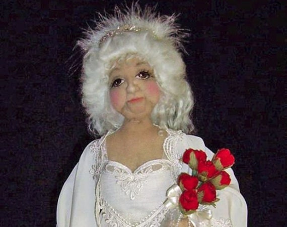 CE708E – Rose on her Wedding Night, PDF Cloth Doll Making Sewing Pattern
