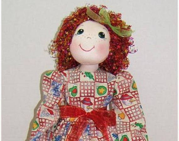 Judi Ward Original Design - Noelle  Noelle ~ Cloth Doll Making E-Pattern - Download Sewing Pattern