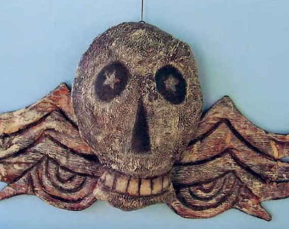 SE792 - Winged Skull,  Art Doll Pattern,  Sewing Cloth Doll Pattern - PDF Download by Susan Barmore