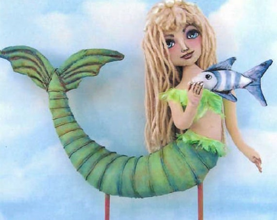 "SE794 - Liz, 11"" Mermaid Fabric Doll Pattern,  Sewing Cloth Doll Pattern - PDF Download by Susan Barmore"