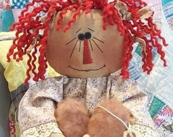 RP169E - This Old Heart, Raggedy Ann Doll Sewing Pattern by Michelle Allen of Raggedy Pants Designs - PDF Download