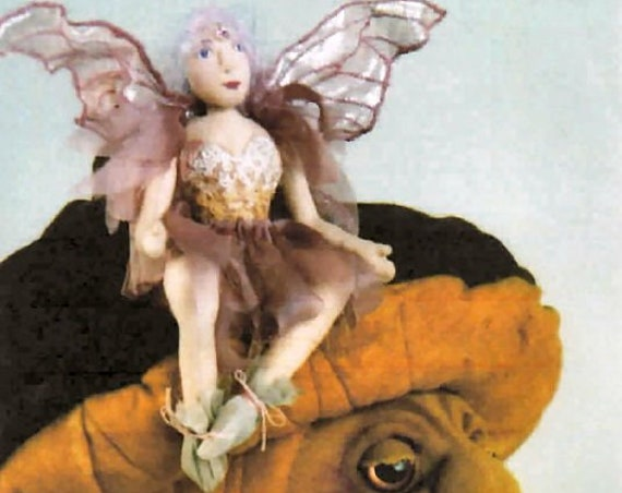 SR807E - Chloe and the Enchanted Mushrooms - Cloth Doll Making Sewing Pattern by Suzette Rugolo, PDF Download