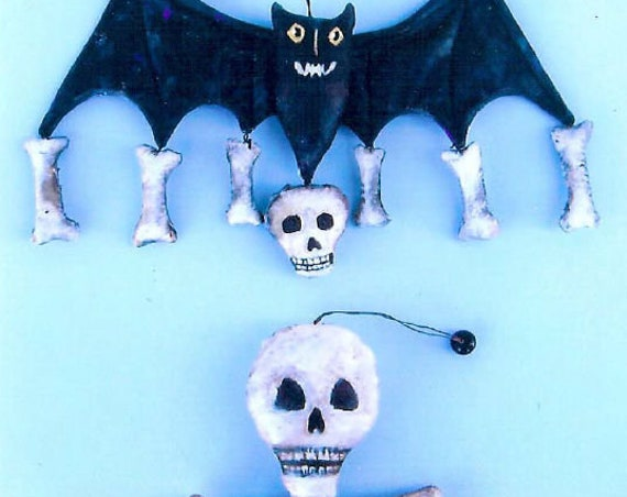 SE825 -Bone Ornament,  Ornament Art Doll Pattern,  Sewing Cloth Doll Pattern - PDF Download by Susan Barmore