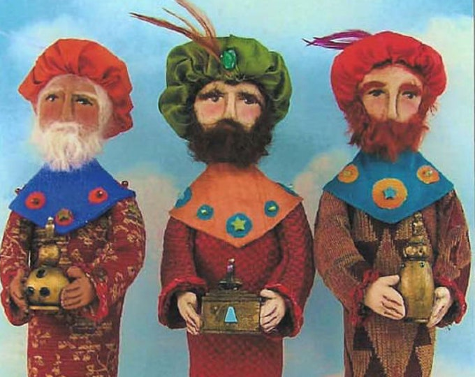 SE455E -  Wise Men, Fabric Cloth Art Doll  Pattern - PDF Download by Susan Barmore