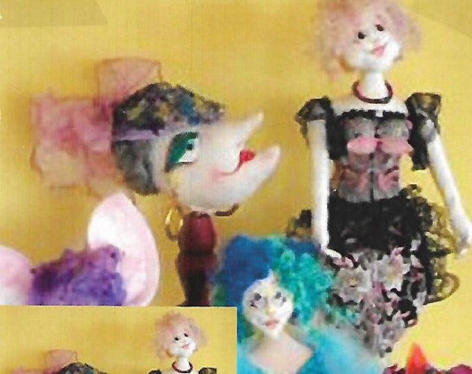 KK806E – 5 Different Bra Dolls - Cloth Doll Making Sewing Pattern, PDF Download