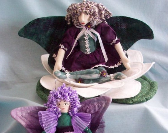 HB904E -  Butterfly Girls & Water Lily Cloth Doll Sewing Pattern - PDF Download by Billie Heisler