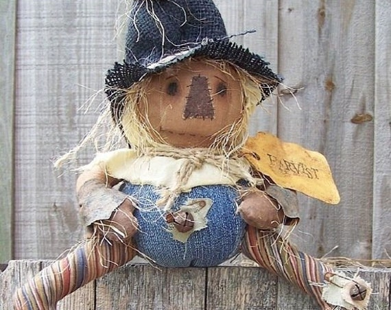 RP351E - Silly Ole Scarecrow,  PDF Download Cloth Doll Pattern by Michelle Allen of Raggedy Pants Designs