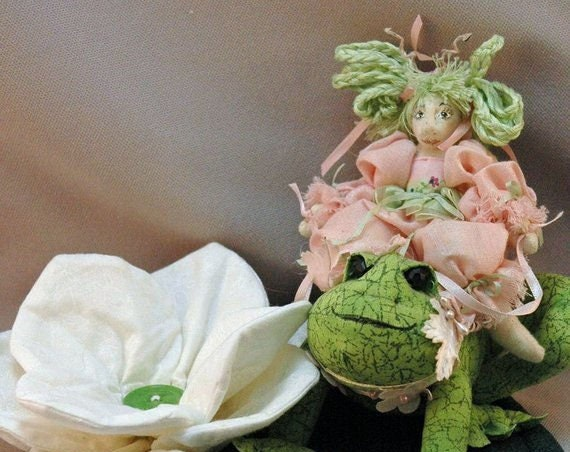 HB808E -  Primrose Meadowsweet - Fairy and Frog Cloth Doll Making Sewing Pattern - PDF Download by Billie Heisler