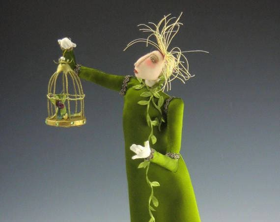 CR925E – Fairy Catcher, Cloth Doll Pattern (PDF Download)