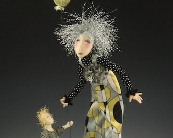CR957E - Street Fair, Cloth Art Doll Sewing Pattern/E-class (PDF Download) by Cindee Moyer