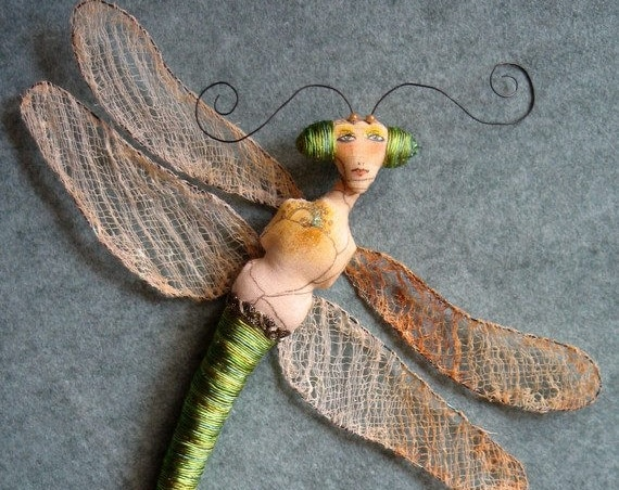 CR922E – Damselfly, Cloth Doll Pattern (PDF Download)