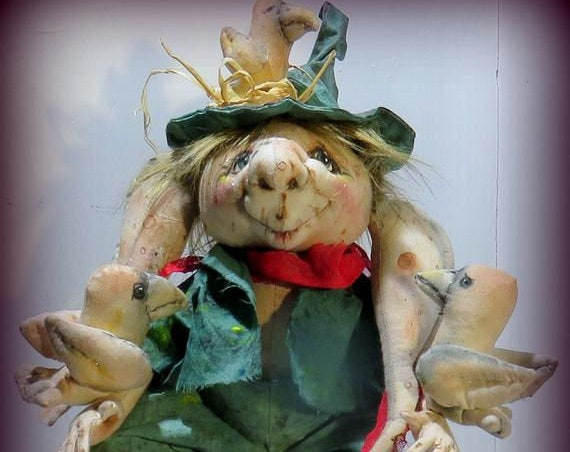 """SM930E -  """"Woodsy"""" a  Delightful Woodland Creature  - 16"""" Cloth Doll Making Sewing Pattern - PDF Download & Facebook Work Along!"""