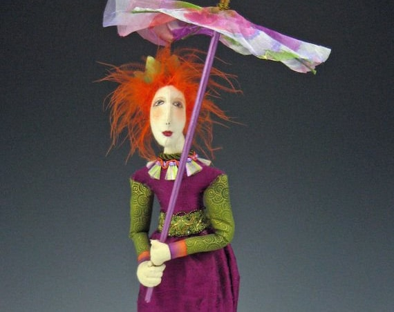 """CR905E - Roz,  18"""" PDF Download Cloth Art Doll Pattern by Cindee Moyer"""