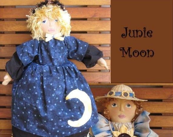 """HB807E - Which Way is Up? 18"""" Topsy Turvy Dolls, Cloth Doll Making Sewing Pattern - PDF Download by Billie Heisler"""