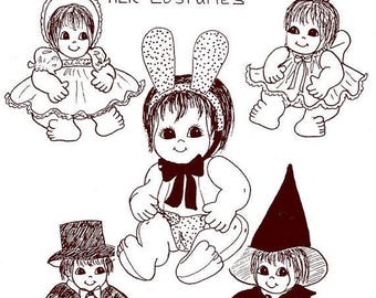 Judi Ward Original Design - Tiny Baby Love and Her Costumes ~ Cloth Doll  Making E-Pattern - Download Sewing Pattern