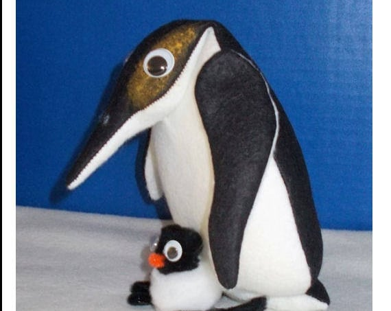 Pete Penguin and Little Petey  - Soft Doll Animal Sewing Pattern – PDF Download Doll Making Pattern