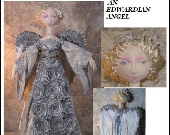 "BS338E -  Cerise, An Edwardian Angel, 27""  Cloth Doll Pattern -  PDF Download Sewing Pattern by Barbara Schoenoff"