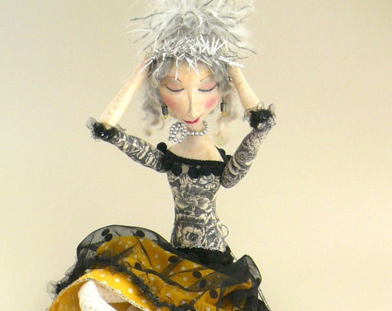 """PS301E - Antoinette  -  24"""" Sitting Cloth Art Doll Making Sewing Pattern - PDF Download by Phyllis Scaringe of LaDeeDolls"""