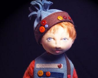 "BS331E -Finch, 10"" Cloth Boy Doll Pattern -  PDF Download Sewing Pattern by Barbara Schoenoff"