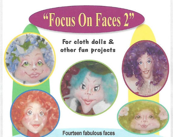 KK717E – Focus on Faces 2, PDF Tutorial Download - Doll Face Making