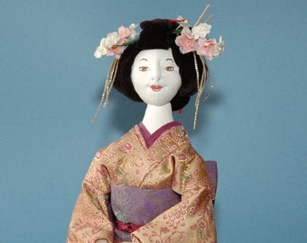 ES106 - Geisha Costume E-Pattern - PDF Format (Doll Pattern Not Included)