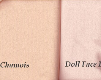 Craft Velour - Doll Face Pink or Chamois - Doll Making Fabric, 1 yard - Sale!