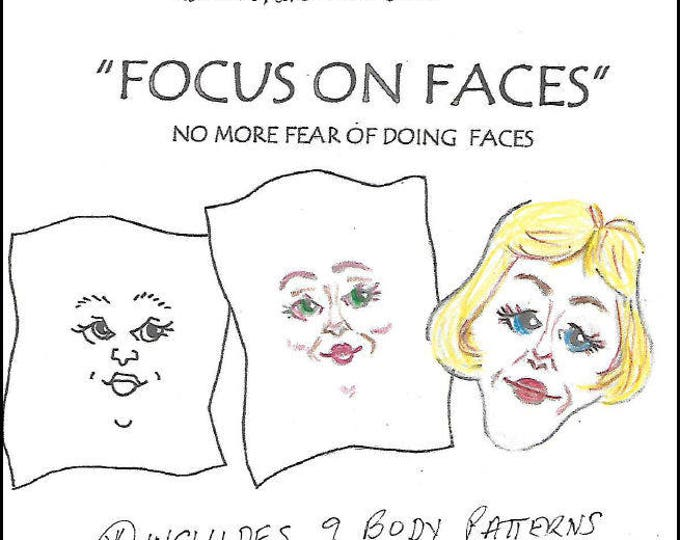 KK701E – Focus on Faces, PDF Tutorial Download - Doll Face Making