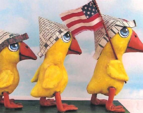 SE1135E -  Duck Troop ,  Doll/Bird Art Pattern - PDF Download by Susan Barmore