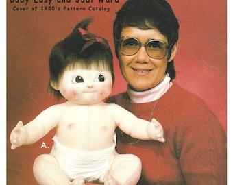 "Baby Easy ~ Vintage 25"" Cloth Baby Doll Making E-Pattern  - Download Sewing Pattern, A Judi Ward Original Design"
