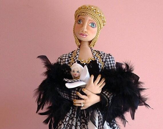 LA205E -Lady Pod & Sweet Pea,  Cloth/Fabric Doll Making Sewing  Pattern - PDF Download