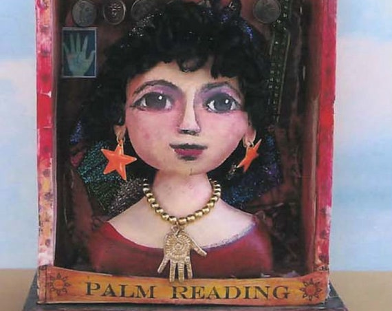 SE707 - Palm Reader Fabric Doll and Booth Pattern,  Sewing Cloth Doll Pattern - PDF Download by Susan Barmore