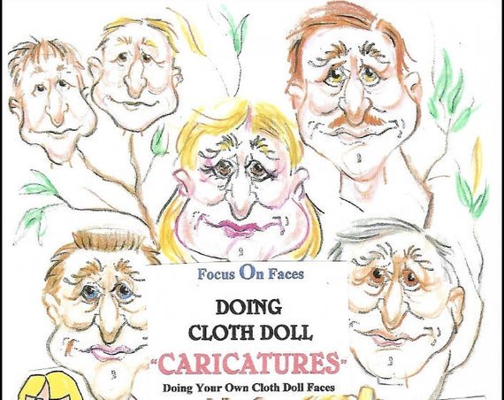 """KK720E – Creating Cloth Doll Faces """"Caricatures"""", PDF Tutorial Download"""