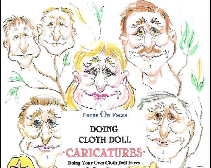 "KK720E – Creating Cloth Doll Faces ""Caricatures"", PDF Tutorial Download"