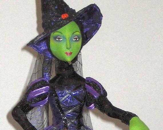 AB509E   Gwendolyn, The Glamour Witch Cloth Doll Pattern PDF